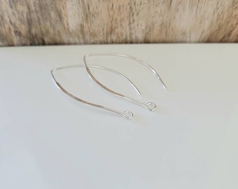 2 Pcs ~ Sterling Silver Findings ~ Silver Jewelry Supplies ~ Jewelry Findings Supplies Canada
