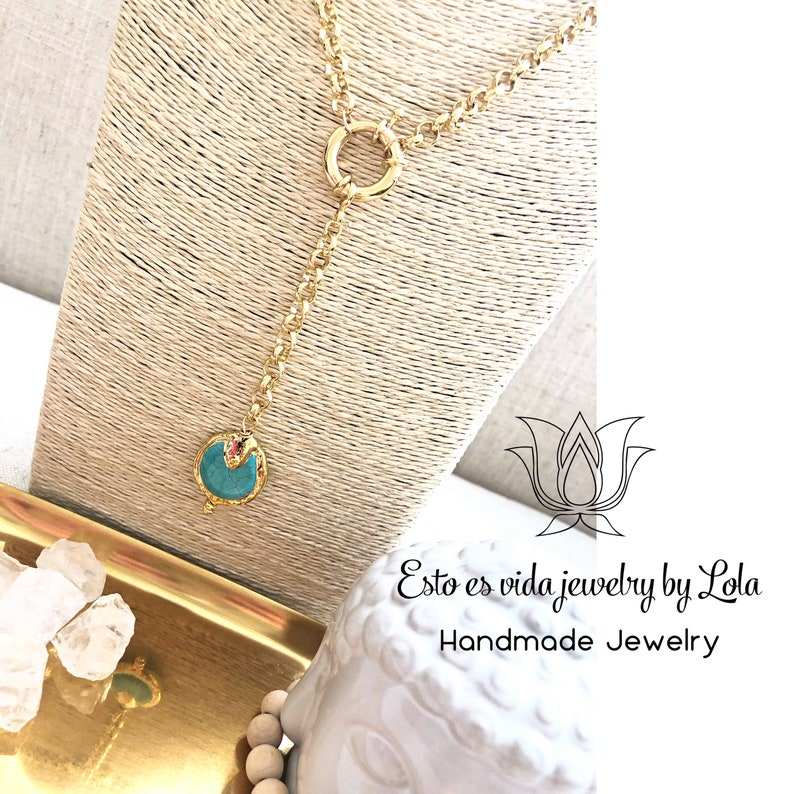 Turquoise lariat necklace