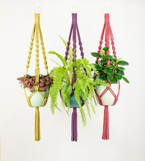 Macrame Plant Hanger MILA, Recycled Cotton, 21 Colours