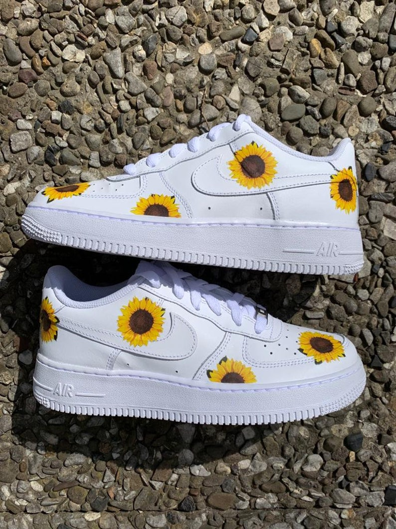 Custom Air Force 1 Sunflower | Etsy