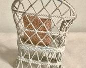 Miniature dollhouse wicker-like chair 1 12