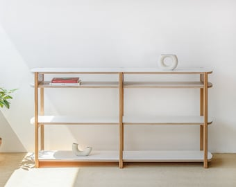 Anyshelf / Wooden shelving unit, Low Bookcase, Bookshelves, Modern Shelves, TV Stand, Scandinavian, Mid-century