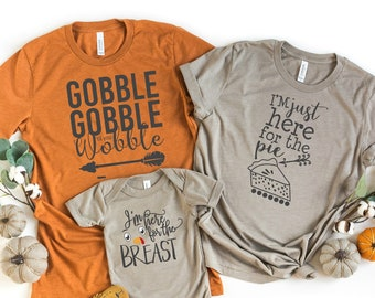 Thanksgiving Family Shirts,Mommy and Me Funny Family Matching Turkey Tshirt Mother Daughter Son Mom Baby Toddler Kid Boy Girl Custom