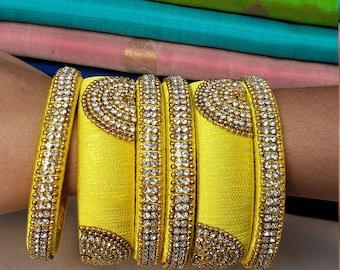 Bangles: Silk Thread Bangles   Size 2.8