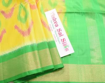 Kanchi Pure Soft Silk Saree:  Beautiful Pochampalli Pattern Saree with Lovely Color Combination