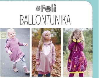 Paper cut pattern balloon tunic *Feli of pink pink* BLUE BERRY size 80-164