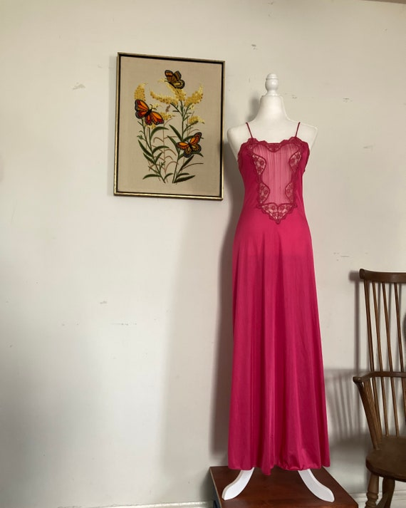 Bright pink vintage nightgown