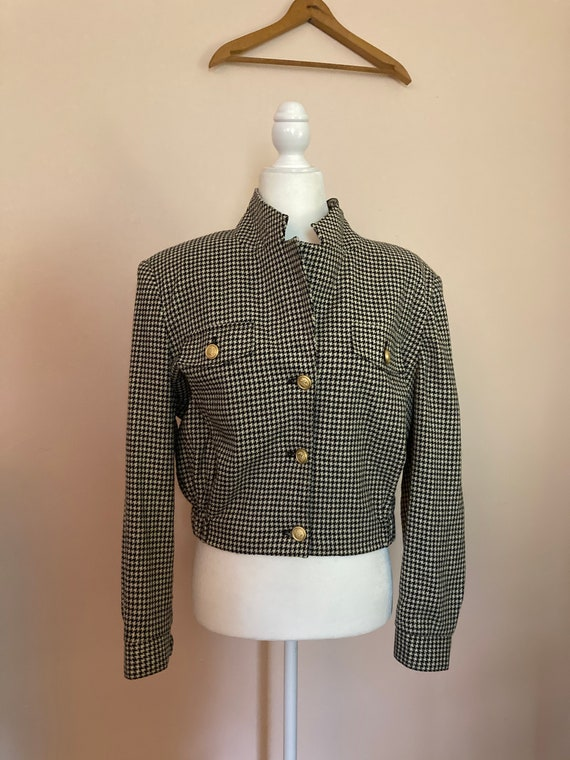 Vintage Bill Blass cropped bomber jacket