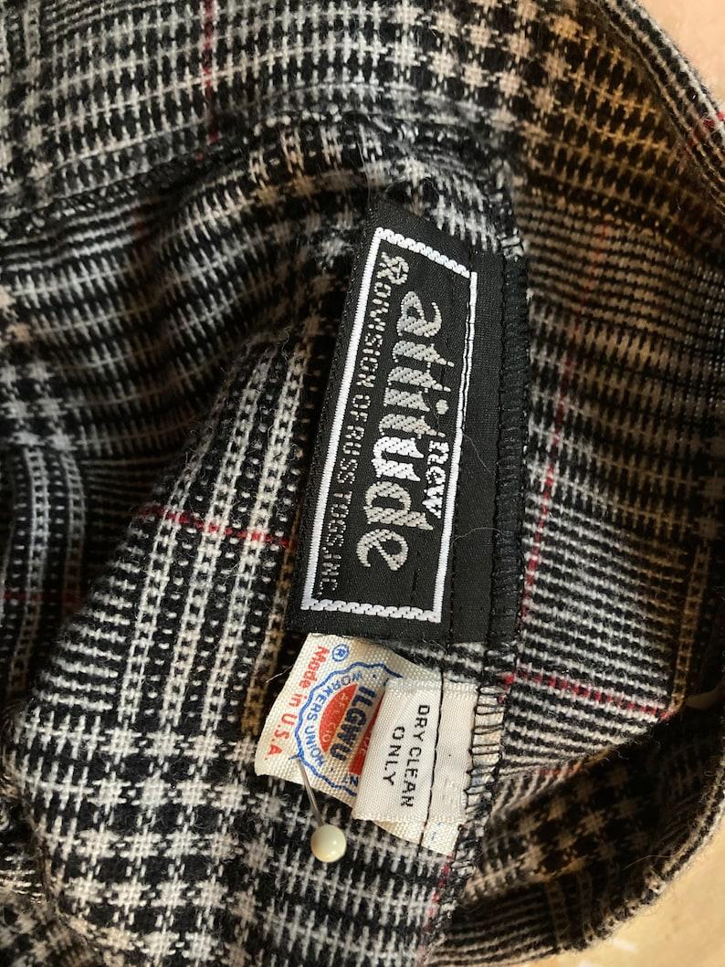 Vintage 80s grey plaid skirt