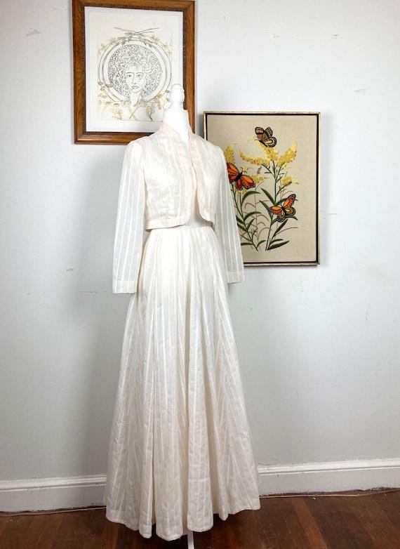 Vintage cottagecore prairie dress with jacket - image 2