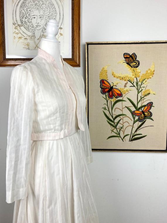 Vintage cottagecore prairie dress with jacket - image 4