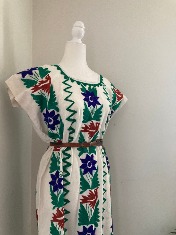 Embroidered Mexican shift dress