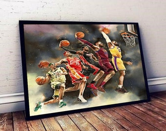 Lebron James Evolution Lakers NBA Poster Canvas Wall Art - Unframed Paper Poster – Poster – Canvas Print –  Wall Decor