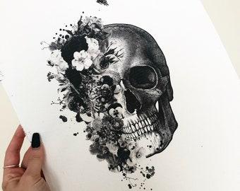 Skull Art Etsy
