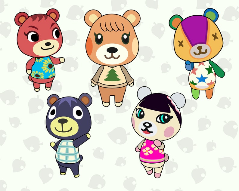 15 Cubs villagers layered SVG pack Get animal crossing ...