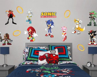 Sonic The Hedgehog Wall Decal Etsy