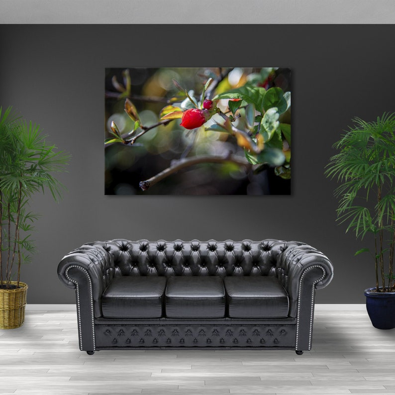 """Quince Japanese Bloom high-quality canvas prints office wall 1 panel 47""""x32"""""""