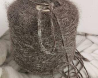 Melage Blue Fuzzy Wool Yarns For Hand Knitting 520g Alpaca Yarn on Cone Soft Yarn Scarf Yarn