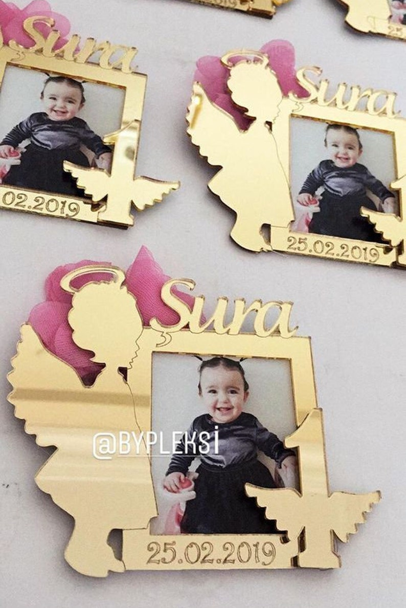 Picture Frames Agnel Favors First Birthday Favors Party Favors,Angel Baby Girl Birthday Party Personalized Angel Baby Girl Photo Frames