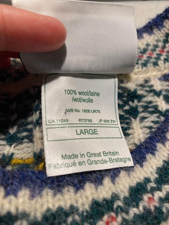 Vintage 90s XXL Oversized Christmas Wool Sweater … - image 6