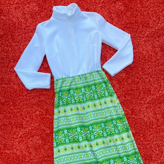 Vintage 60s/70s Bright Green & Yellow Vicky Vaugh… - image 3