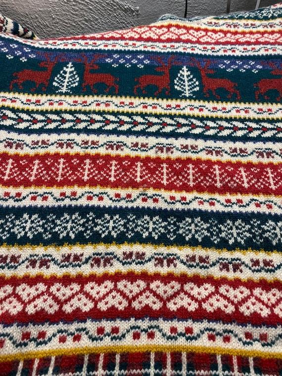 Vintage 90s XXL Oversized Christmas Wool Sweater … - image 5