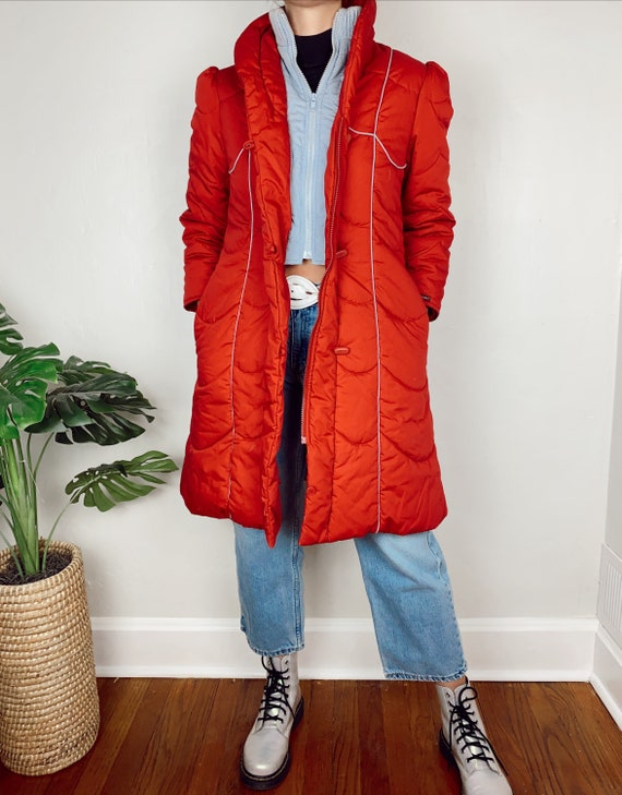 Vintage 80s Red Jordache Polyester & Cotton Puffer