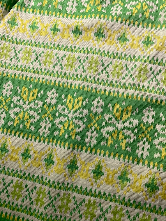 Vintage 60s/70s Bright Green & Yellow Vicky Vaugh… - image 6