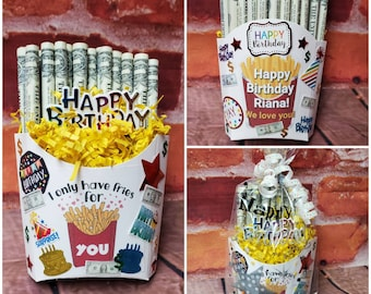 French Fries made with REAL MONEY! Great gift for any occasion. Graduation Birthday fathers day