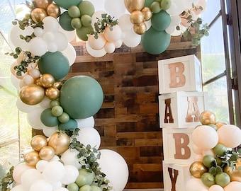Olive Sage Balloon Arch Garland Kit, Eucalyptus Boho Bridal Shower, Baby Shower, Wedding, Birthday Backdrop, Bachelorette Party Decoration