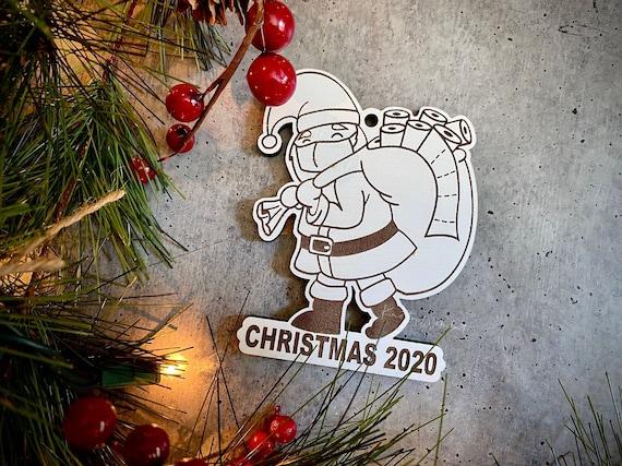 Santa 2020 Mask Toilet Paper Christmas Tree Ornament Funny   Etsy