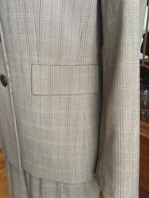 Late 90s High Waist Pant 3 Button Blazer Plaid Su… - image 5