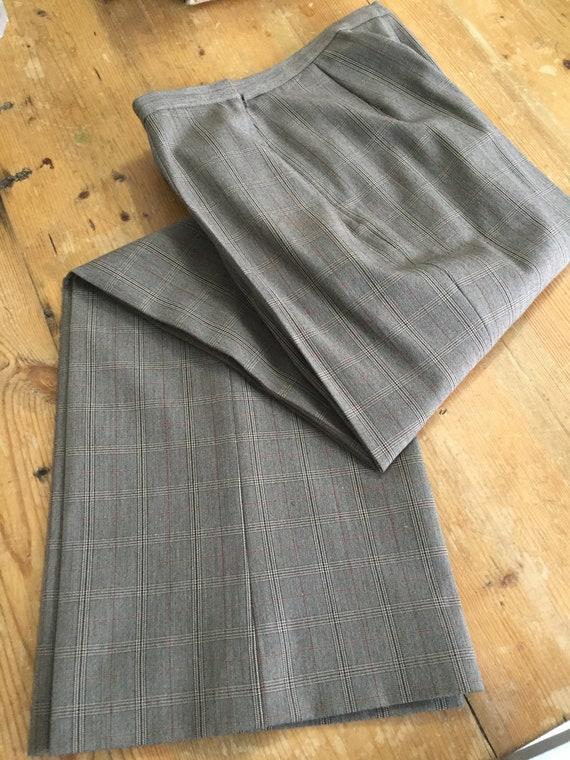 Late 90s High Waist Pant 3 Button Blazer Plaid Su… - image 8