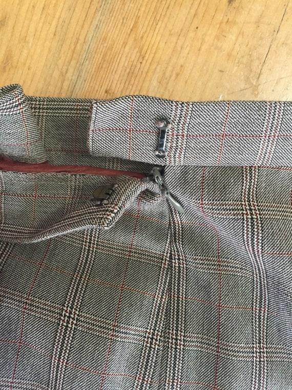Late 90s High Waist Pant 3 Button Blazer Plaid Su… - image 9