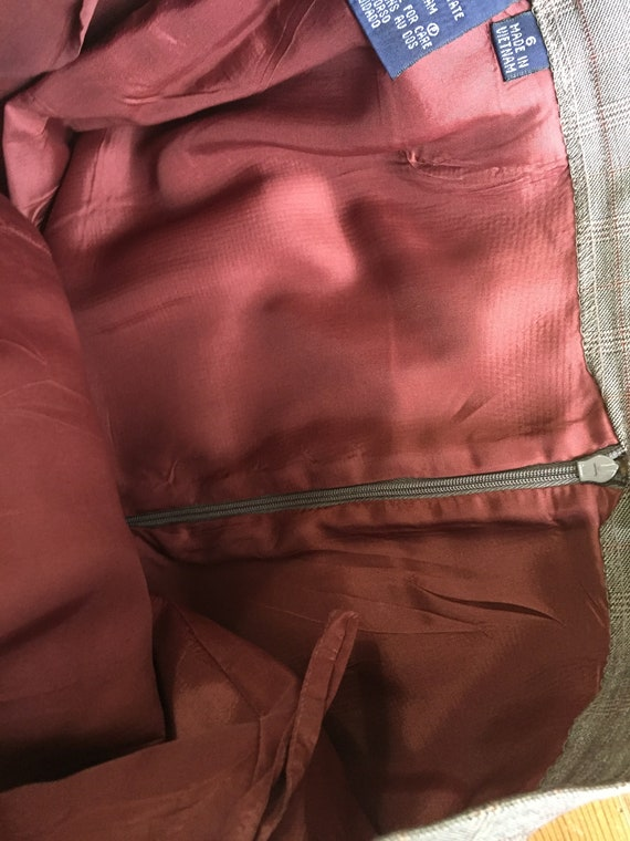 Late 90s High Waist Pant 3 Button Blazer Plaid Su… - image 10