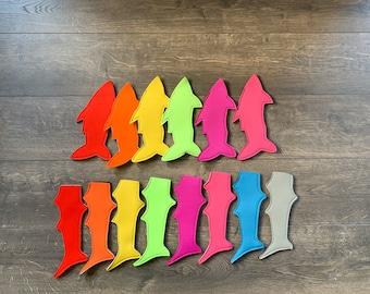 party favour Loot Bag Freeze Pop Popsicle Sleeve Personalized Freezie Holder Custom Popsicle holder Freezer Pop Shark Ice pop hugger