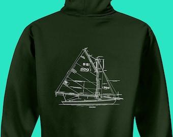 1908 SS Sloop Wooden Sail Boat Plans Hoodie