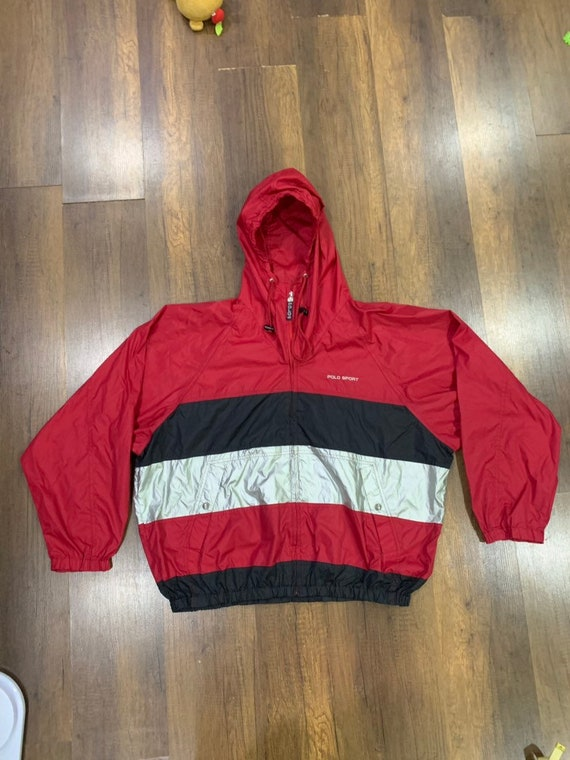 Authentic POLO SPORT windbreaker hoodie