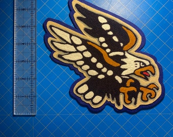 American Traditional Eagle Tattoo Flash Chainstitch Embroidered Patch