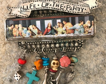 Life of the Party- Sweed Bird pin