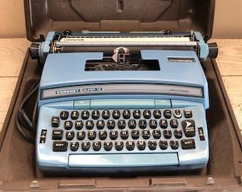 Smith Corona Coronet Super 12 Coronamatic Typewriter With Hard Case
