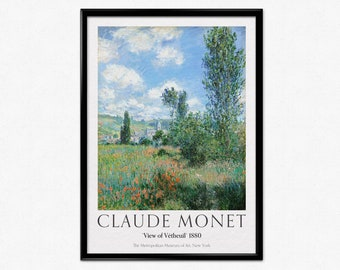 12 x 16 in. Impressionist Artwork Woman Seated under the Willows 1880 by Claude Monet Digital Reproduction on Stretched Canvas