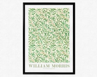 William Morris Exhibition Poster, Art Nouveau, William Morris Print, Willow Bough, Morris Flower Pattern, Vintage Pattern, Home Decor