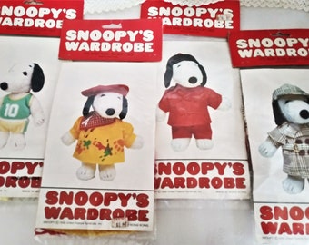"RED PREPPY POLO SHIRT NIP! Peanuts Snoopys Wardrobe Outfit 11/"" Plush Snoopy"