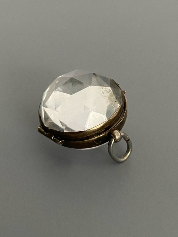 Faceted Pools of Light Locket Circa 1800's