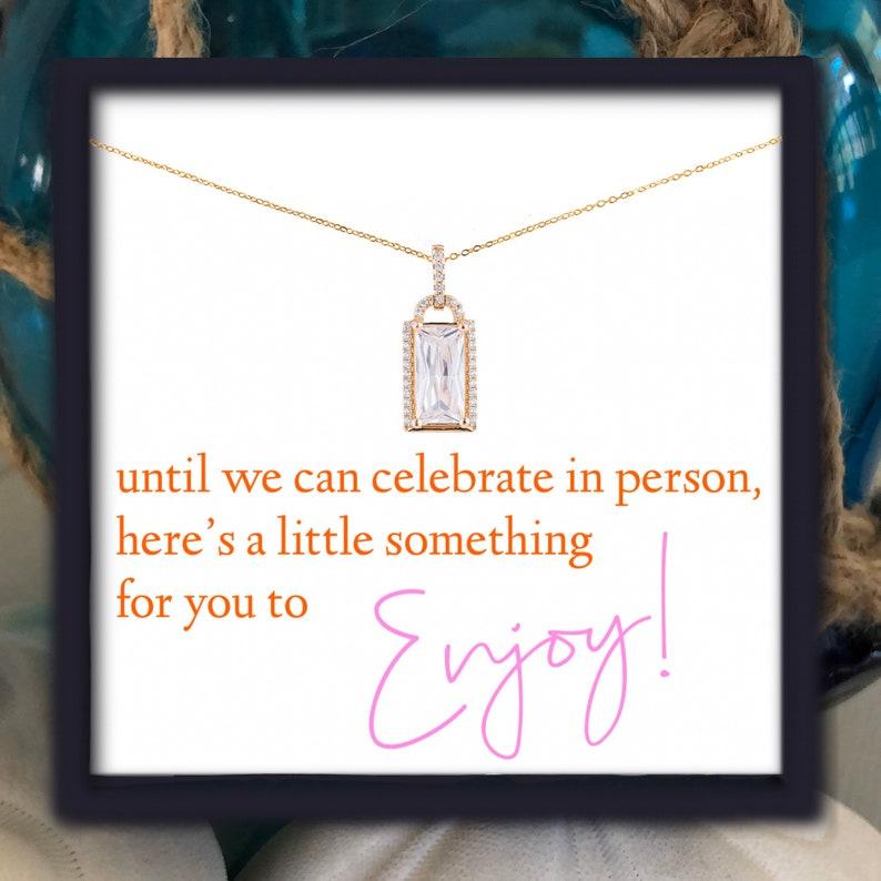 Until We Can Celebrate In Person \u2022 Enjoy \u2022  Missed Milestones \u2022 Pendant Tag Necklace