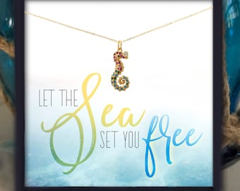 Seahorse Necklace Birthday Gift for Women Gift Ideas