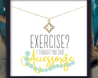 Funny Gifts for Friend | Gift Ideas for Her | Pave Necklace