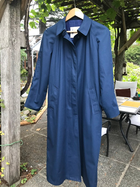 London Fog Navy Blue Trench Coat - image 7