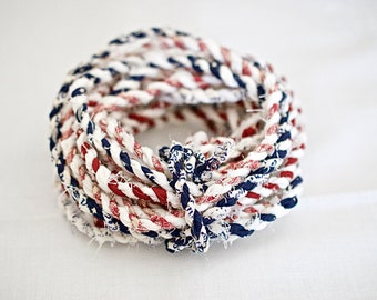 """Navy Blue 3//8/"""" Decorative Rope Cord Evening Sky By The Yard"""